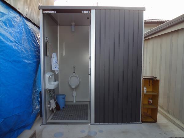 工場敷地内にトイレを新設