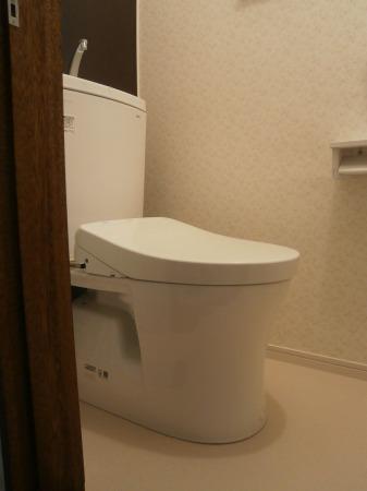 下水工事にあわせてトイレ洗面を一新